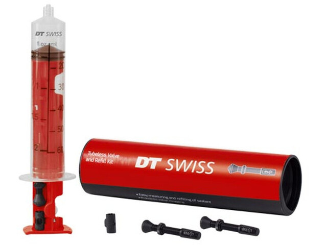 DT Swiss Tubeless Valvola e kit di ricarica 75mm